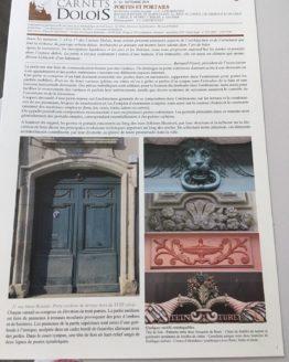 Première page du Carnet dolois sur les portes et portails