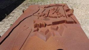 Maquette des fortifications de la ville d'Auxonne